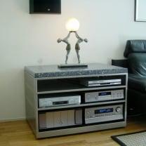 Audio  meubel  -  Rvs  /  Granito blauw Sodaliet