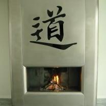 Open haard  -  Rvs  /   Chinees  teken  TAO